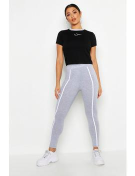 Woman Embroidered Binding Cotton Leggings by Boohoo