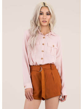 Ready For Anything Belted Shorts by Go Jane