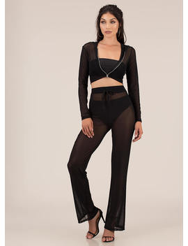 Make It Mesh Sheer Two Piece Set by Go Jane