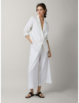 Plain 100 Percents Linen Slim Fit Blazer by Massimo Dutti