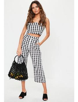Black Gingham Co Ord Culottes by Missguided