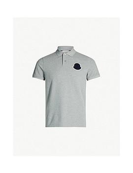 Logo Patch Cotton Piqué Polo Shirt by Moncler