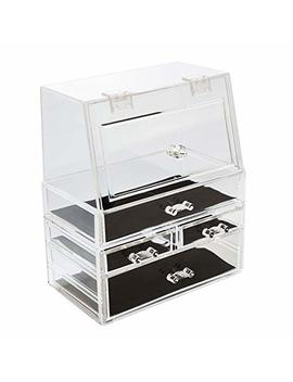 Zerria Makeup Organizer Transparent Organizer Cosmetic Storage Box Dustproof by Zerria