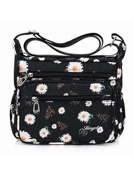 Totzy Nylon Women Crossbody Bag Organize Travel Shoulder Purse With Lots Of Pockets Flower by Amazon