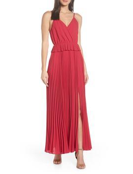Olivet Pleated Maxi Dress by Ali & Jay