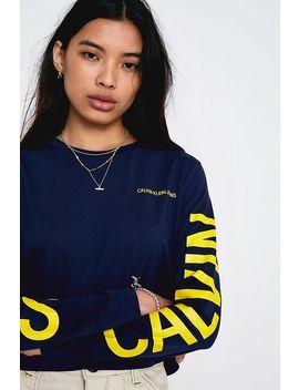 Calvin Klein Jeans Institutional Logo Long Sleeve T Shirt by Calvin Klein