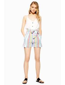 Multi Stripe Shorts by Topshop