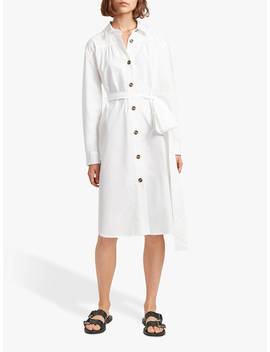 French Connection Southside Belted Dress, Linen White by French Connection