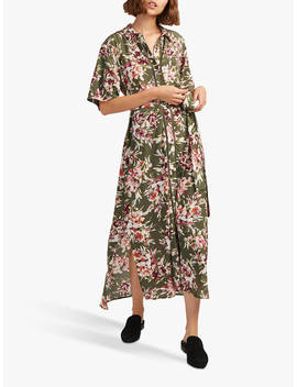 French Connection Floriana Drape Dress, Cactus by French Connection