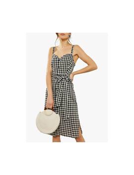Mint Velvet Gingham Dress, Black/Multi by Mint Velvet