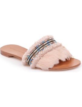 Badgley Mischka Fortune Embellished Slide Sandal by Badgley Mischka Collection