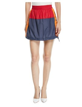 Warm Up Colorblock Logo Mini Skirt by Opening Ceremony
