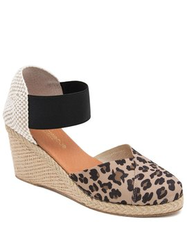 Anouka Leopard Print Wedge Espadrilles by Andre Assous