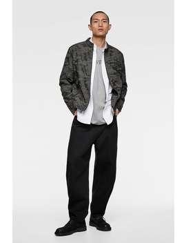 Camouflage Jacket With High Collar  Biker Jackets Man by Zara