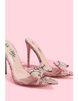 Penelope Snake Sandal High Heels by A'gaci