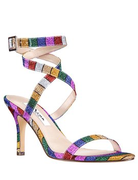 Vannah Rainbow Glitter Ankle Strap Dress Sandals by Nina