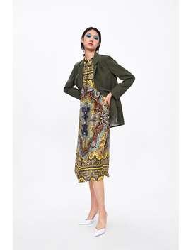 Printed Tunic With Pockets  Midi Dresses Woman by Zara