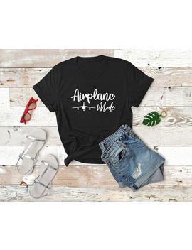 """<Span Data Inner Title="""""""">Traveler, Gift For Traveler, Wanderlust, Airplane Mode, Womens Shirt, Travel Tshirt, Adventurer Gift, Graduation Gift   The Boyfriend Tee</Span> by Etsy"""