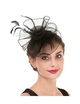 Fascinator Women's Organza Church Kentucky Derby British Bridal Tea Party Wedding Hat Summer Ruffles Cap by Fascinator