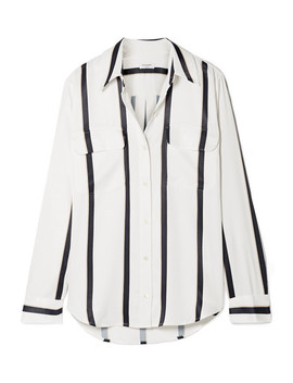 Signature Striped Satin Shirt by Equipment