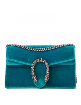 Gucci Velvet Super Mini Dionysus Bag Peacock Blue by Gucci