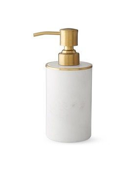 marble-and-brass-soap-dispenser by williams---sonoma