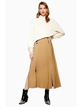 Button Midi Skirt by Topshop