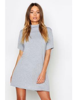 Roll Neck Short Sleeve T Shirt Dress by Boohoo