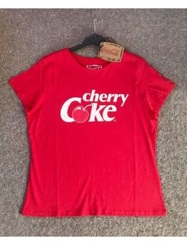 Cherry Coke Ladies T Shirt Top Sizes Xs Xl Red Licensed Coca Cola Primark by Primark   Coca Cola
