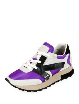 Hg Runner Low Top Suede Sneakers, Purple by Off White