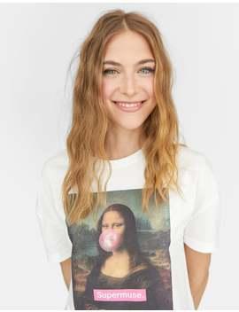 T Shirt Da Mona Lisa by Stradivarius