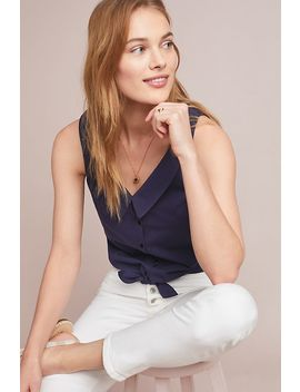 Biloxi Collared Top by Anthropologie