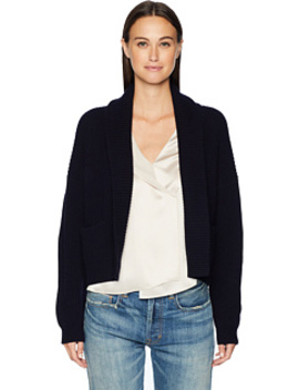 Cropped Rib Cardigan by Vince
