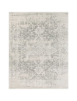 """Janine Gray And Beige Updated Traditional Area Rug 7'10"""" X 10'3"""" by World Weavers"""