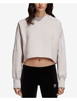 Three Stripe Fleece Sweatshirt by Adidas Originals