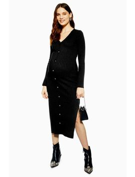 **Maternity Button Midi Dress by Topshop