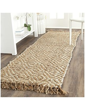 """Safavieh Natural Fiber Collection Nf450 A Hand Woven Natural And Ivory Jute Runner (2'6"""" X 8') by Safavieh"""