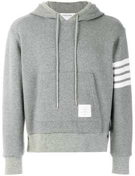 4 Bar Cashmere Shell Relaxed Hoodie by Thom Browne