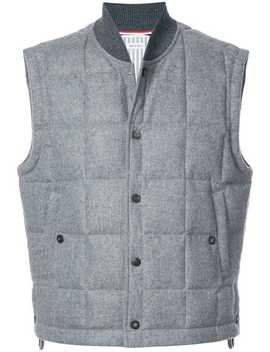 Quilted Down Cashmere Vest by Thom Browne