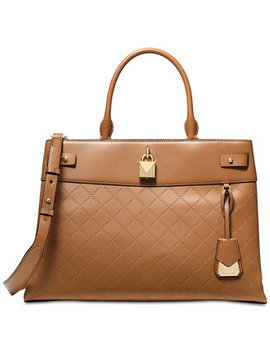 Gramercy Chain Embossed Leather Satchel by Michael Michael Kors