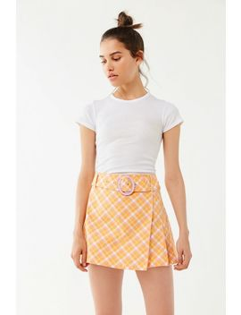Uo Gina Plaid Tailored Mini Skort by Urban Outfitters