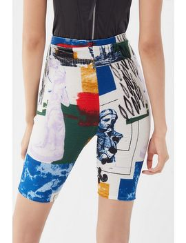 Uo When In Rome Printed Ribbed Bike Short by Urban Outfitters