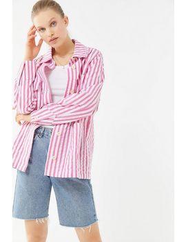 Uo Sierra Striped Seersucker Chore Jacket by Urban Outfitters