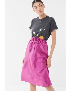 Uo Austen Drawstring Midi Skirt by Urban Outfitters