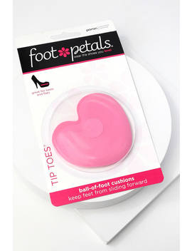 Tip Toes Pink Heart Ball Of Foot Cushions by Foot Petals