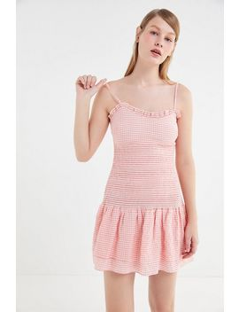 The East Order Luca Smocked Drop Waist Mini Dress by The East Order