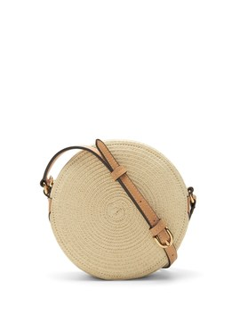 Straw Circle Crossbody Bag by Banana Repbulic