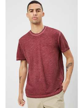 Heathered Oil Wash Tee by Forever 21