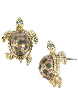 Turtle Stud Earrings by Betsey Johnson