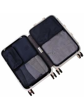 Travel Packing Cubes 7 Set, Jj Power Luggage Organizers With Toiletry Kit Shoe Bag by Jj Power